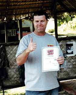 djungle bungy jump certificate